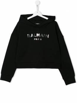 Balmain Kids худи с длинными рукавами и логотипом 6M4010MX270
