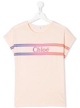 Chloe Kids футболка с короткими рукавами и градиентным логотипом C15A9444B