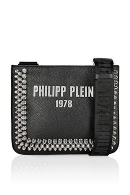 Черная сумка с конусовидными заклепками Philipp Plein 1795182393