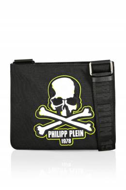 Черная сумка с контрастным принтом Philipp Plein 1795182394