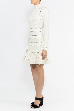 Белое платье с люверсами Alexander McQueen 384182208