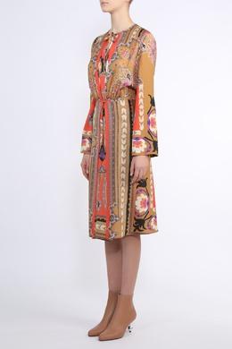 Коричневое платье с узором Etro 907182162