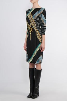 Черное платье с контрастной отделкой Etro 907182223