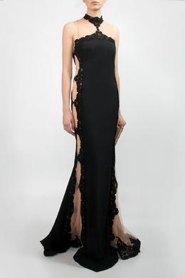 Черное платье с отделкой Forever Unique 2146182047