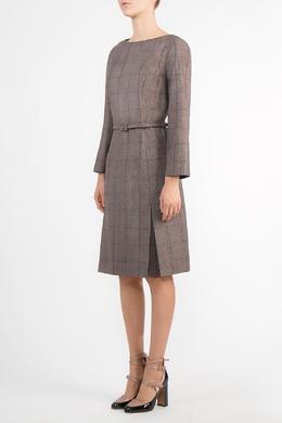 Коричневое платье в клетку Carolina Herrera 1360181951