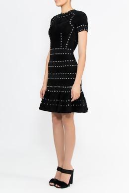 Черное платье с люверсами Alexander McQueen 384182202