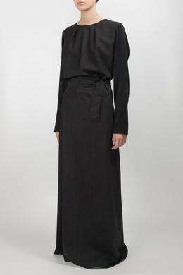 Черное платье с поясом Lorena Antoniazzi 2136182248