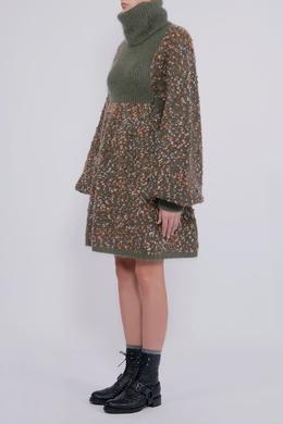 Зеленое вязаное платье Chloe 360182246