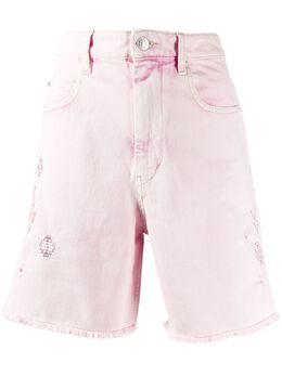 Isabel Marant Etoile джинсовые шорты с вышивкой SH031620P019E