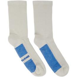 Rick Owens Grey Glitter Socks RU20S7498 C