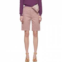 Y / Project Pink Asymmetric Shorts WPANT50-S18
