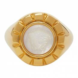 Versace Gold and White Palazzo Ring DG57909 DJMTD