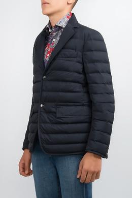 Синяя стеганая куртка Moncler 34182635