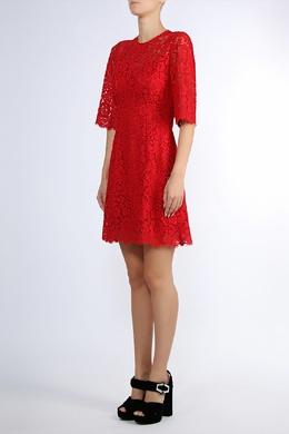 Красное кружевное платье Dolce&Gabbana 599182667