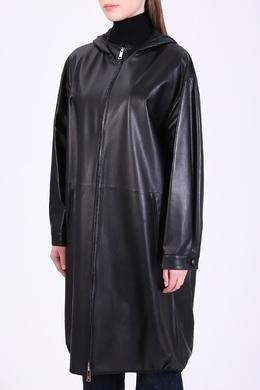 Черный кожаный плащ Prada 40182603