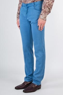 Ярко-голубые джинсы скинни Kiton 1671182613