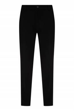 Черные брюки из шерсти Bikkembergs 1487183055