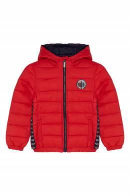 Стеганая куртка красного цвета Bikkembergs 1487183080