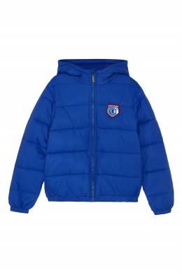 Ярко-синяя куртка с капюшоном Bikkembergs 1487183084