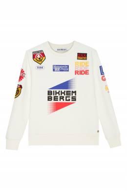 Белый свитшот с надписями Bikkembergs 1487183086