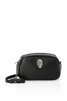 Черная кожаная сумка с декором Philipp Plein 1795182910