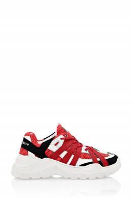 Комбинированные красные кроссовки Philipp Plein 1795183000