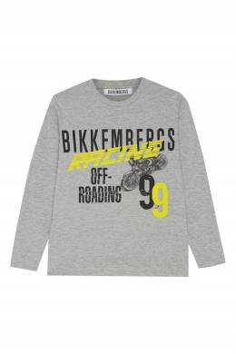 Серый лонгслив с надписями Bikkembergs 1487183065