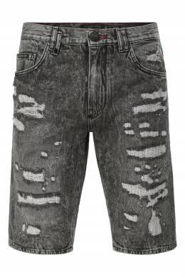 Серые джинсовые шорты Philipp Plein 1795183049