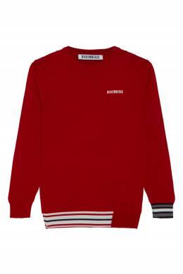 Красный джемпер из полушерсти Bikkembergs 1487183072