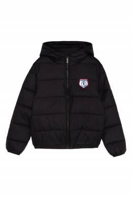 Стеганая куртка с ярким логотипом Bikkembergs 1487183075