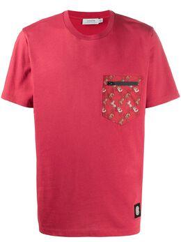 Coach футболка с карманом и принтом 88917