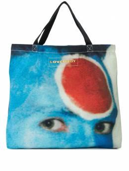 Charles Jeffrey Loverboy large face print tote bag CJLSS20LTBL