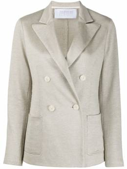 Harris Wharf London double-breasted cotton blazer A2259PED