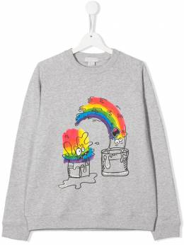 Stella McCartney Kids футболка с принтом Rainbow 588438SOJ21