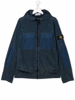 Stone Island Junior TEEN logo patch jacket MO721640235
