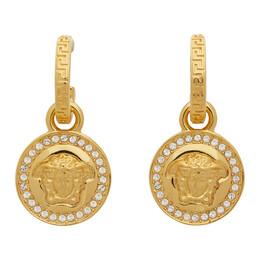 Versace Gold Diamond Medusa Earrings DG2D748 DJMX