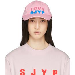 Sjyp Pink Love Logo Cap PW2A1AHT019W