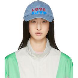 Sjyp Blue Denim Love Logo Cap PW2A1AHT019W