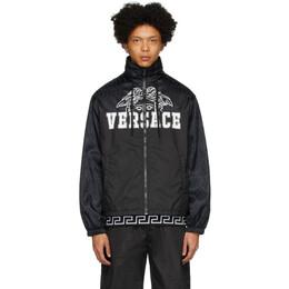 Versace Black Nylon Medusa Windbreaker Jacket A84360 A232567
