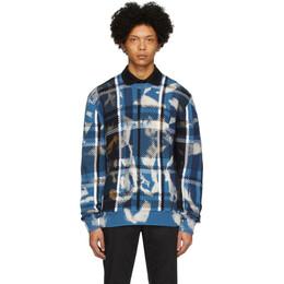Versace Blue Acid Crewneck Sweater A85881 A233606