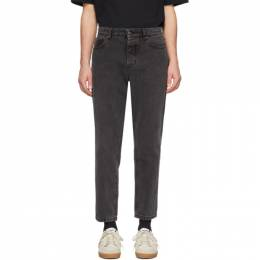 Ami Alexandre Mattiussi Black Carrot-Fit Jeans P20HD204.651