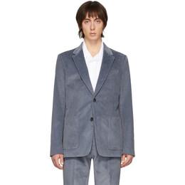 Ami Alexandre Mattiussi Blue Corduroy Blazer P20HV010.234