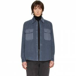 Ami Alexandre Mattiussi Blue Corduroy Shirt P20HC303.209