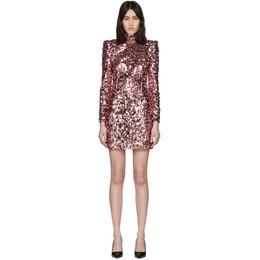 Dolce&Gabbana Pink Spangle Turtleneck Dress F6G9LT FLSA8