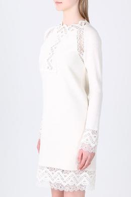 Белое платье с кружевным декором Ermanno Scervino 1328183187
