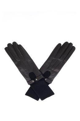 Комбинированные перчатки черного цвета Sermoneta Gloves 2352183165