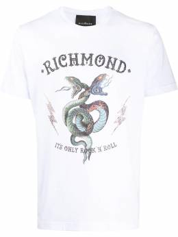 John Richmond crew neck snake print T-shirt RPM20019TSDP