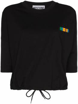 Moschino logo-appliqued cotton T-shirt A07010540