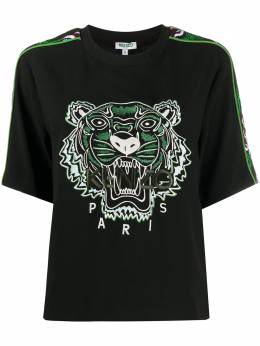 Kenzo Tiger embroidery relaxed-fit T-shirt FA52TO1765AC