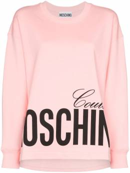 Moschino logo-print cotton sweatshirt A17040527